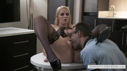 Busty Blonde Vanessa Cage Fucks a French Business Man