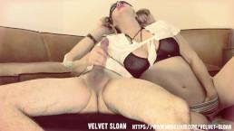 Velvet Sloan...Schoolgirl Deepthroats Gets Ass Fucked and Anal Creampied