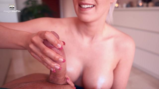 Intense magic point handjob by hot girlfriend - TheMagicMuffin