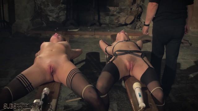 Brunette Tied Up Fucked
