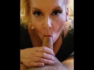 Blonde milf cougar step mom blowjob st video...