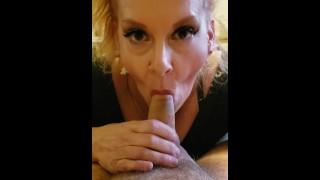 Blonde BIG BOOB MILF Cougar Step Mom blowjob !st video Role play KINK TABOO