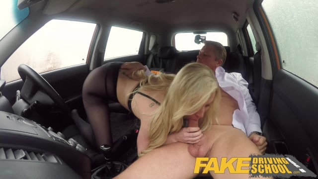 Sex drive naturally Fake driving school mature guy spunks over blonde bombshell georgie lyall