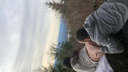 Quickie on the mountain, Huge cumshot!