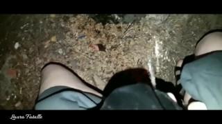 Public Masturbation and Pissing on the Tree POV - Laura Fatalle