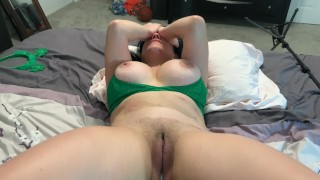 ST PATTY'S INTENSE REAL FEMALE ORGASM AND SIMULTANEOUS CREAMPIE