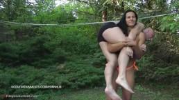 Tia, Ella vs. Miki - 15' -2 vs 1 Lift and Carry