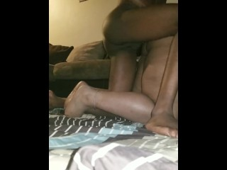 DADDY TRIES TO STRETCH MY VIRGIN ASSHOLE AS I SCREAM AND BEG