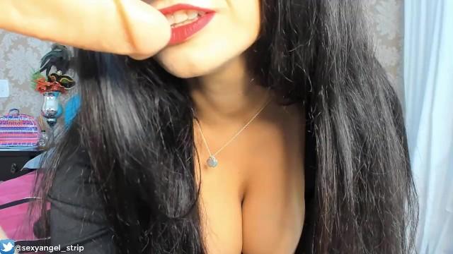 Cosplay Mortícia Addams Extreme teasing Mean Girl JOI PORTUGUES 15