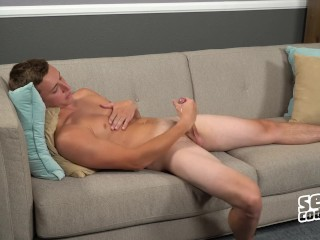 Sean Cody - Young brunette Gibson strokes his cock