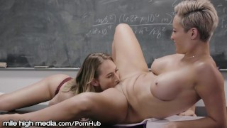 MileHigh Carter Cruise is HOT for Lesbian Teacher