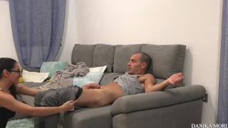Extra small skinny girlfriend waiting to get pounded in ass porno