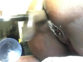 Making a mess of my creamy ass...