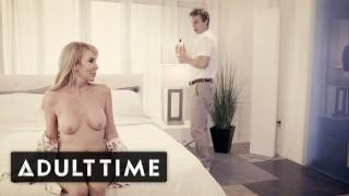 Screen Capture of Video Titled: ADULT TIME Elegant Mature Erica Lauren Seducing Young Stud