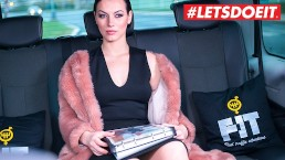 LETSDOEIT – Russian Babe Sarah Cums Hard In a Czech Taxi