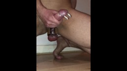 URETHRAL PLUG inside that Big COCK ** Huge CUMSHOT **