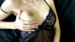 TEEN IN LINGERIE GETS A DRIPPING CREAMPIE