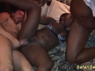 Babes first threesome orgy...