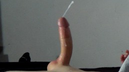 Big Lubed Cock Cums Twice - Huge Ruined Cumshot and Messy Fleshlight Orgasm