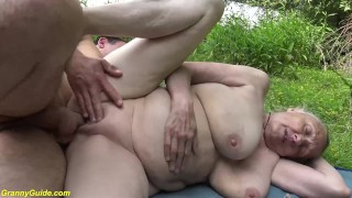 85 years old granny first time outdoor sex