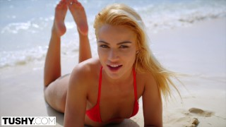 TUSHY Blonde Beauty Gets Her Ass Dominated By A Huge Dick