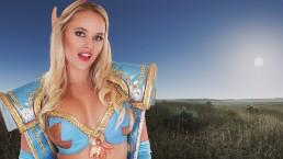 Whorecraft VR Sexy Blonde Elf Alexis Monroe Devours a Big Cock