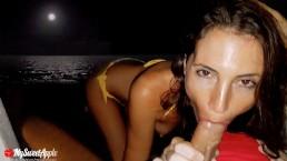 Секс на пляже ночью в Канкуне - MySweetApple