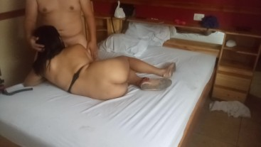 Shemale get fucked bareback and I end inside her ass