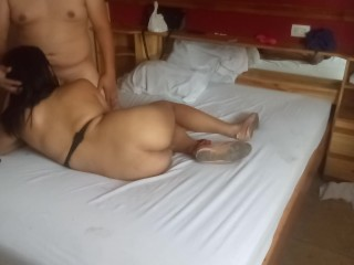 Shemale get fucked bareback and i end inside...