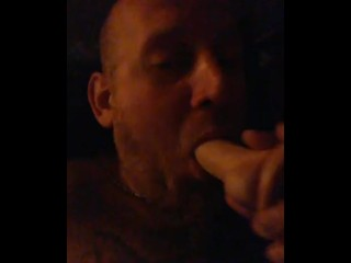 Me sucking a toy