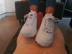 Fila Disruptor POV Shoejob with cum on it