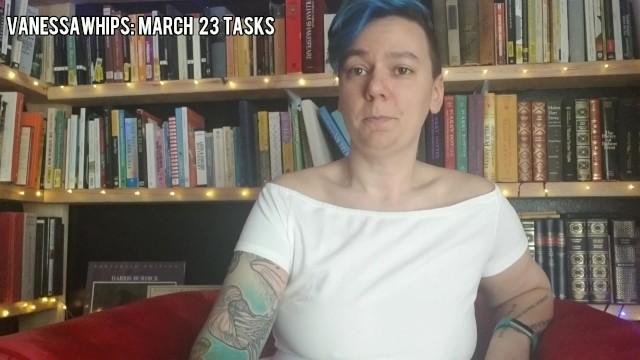 March 23 Tasks 20