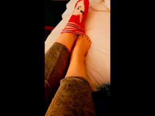 BBW Playful Sock Removing Tease