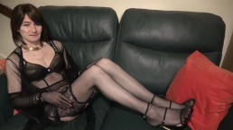 Sophie London: Posing in Wolford Stockings and AP Lingerie