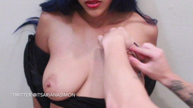 Painful Tit Busting Ebony Girl 15