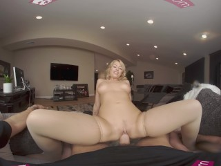 VRBangers Sexy Blonde Zoey Monroe getting her holes filled with a Big Dick
