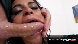 Hot Latina petite sucking a Huge Cock (Vienna Black) – FirstClassPOV