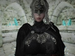 skyrim dark souls Fire Keeper and monster porn