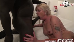 Mutter geht fremd - blonde horny milf pounded by huge cock in her house