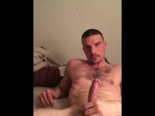 Late night stroke sess with this daddy jock: watch me pump my load out