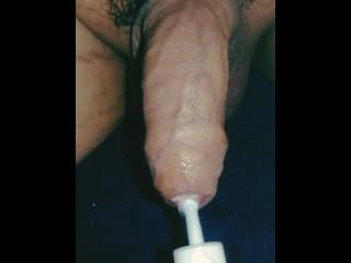 Korean flaccid uncircumcised foreskin lotion injection syringe fetish clip