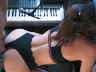 Caught her playing Apex Legends and fucking her pussy and anal   Part 1