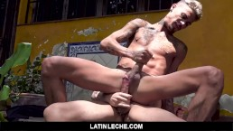 LatinLeche - Watching My Tatted Latino Boyfriend Get Fucked By Another Guy