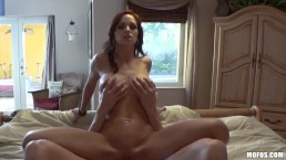 Mofos - Babysitter Kimber Lee has threesome with Ashley Sinclair