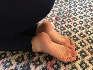 Perfect Teen Feet Scrunching Doing Yoga