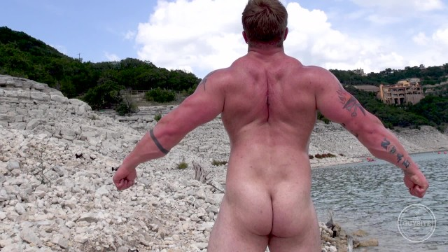 You tube banned gay site - Aaron bruiser first time naked on camera, outdoors and in public.