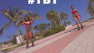 Screen Capture of Video Titled: BANGBROS - Throwback Thursday: RollerBlade Booty with Naomi and Sabara