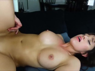 hot college girl gets fucked on the couch