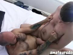 AmateursDoIt - Amateur Bears Jackson and Wyatt riding cock after blowjob