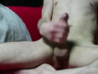 Skinny boy masturbate with new camera...